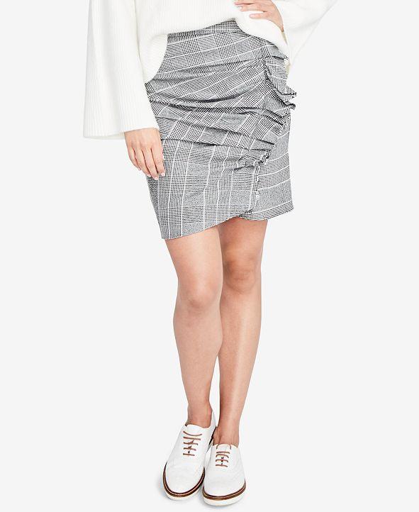 RACHEL Rachel Roy Ruffled Houndstooth Skirt, Created for Macy's