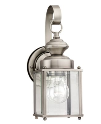 Sea Gull Outdoor Lighting, Jamestowne Brushed Nickel Wall Lantern ...