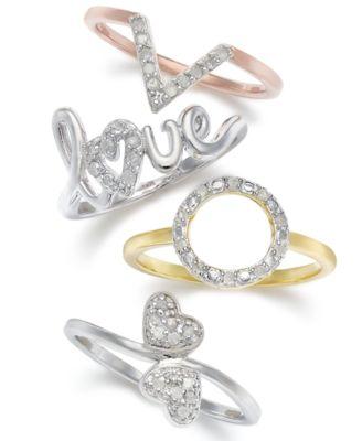 Diamond Heart Ring (1/10 ct. t.w.) in Sterling Silver