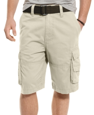 American Rag Shorts, Belted Solid Cargo EDV