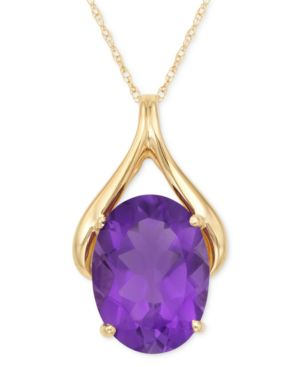 14k Gold Amethyst Pendant (9 ct. t.w.) - Jewelry