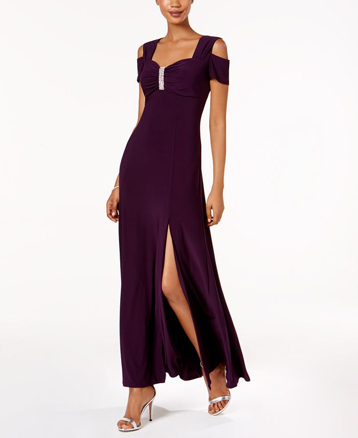 R & M Richards - Cold-Shoulder Gown