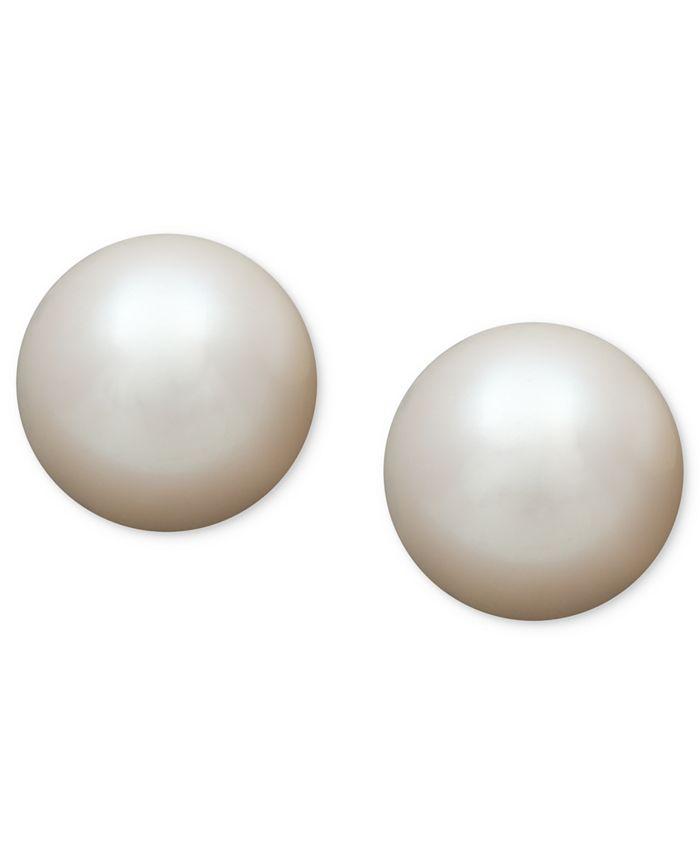 Belle de Mer - Pearl Earrings, 14k Gold AA Akoya Cultured Pearl Stud Earrings (5-1/2mm)