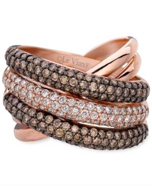 Le Vian Diamond Ring, 14k Rose Gold Chocolate Diamond and White Diamond Overlap (1-7/8 ct. t.w.)
