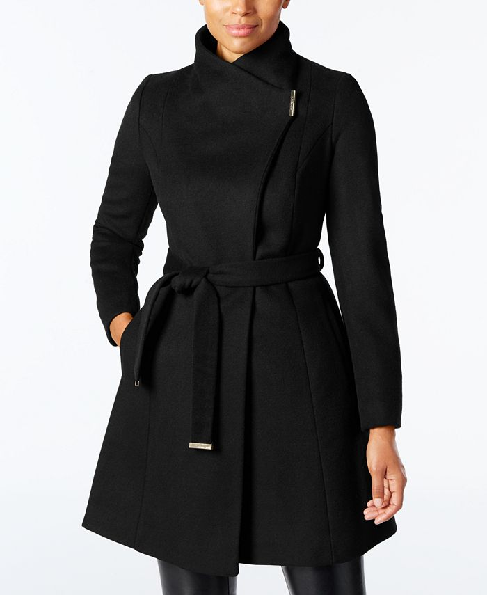 Michael Kors - Wool-Blend Belted Walker Coat