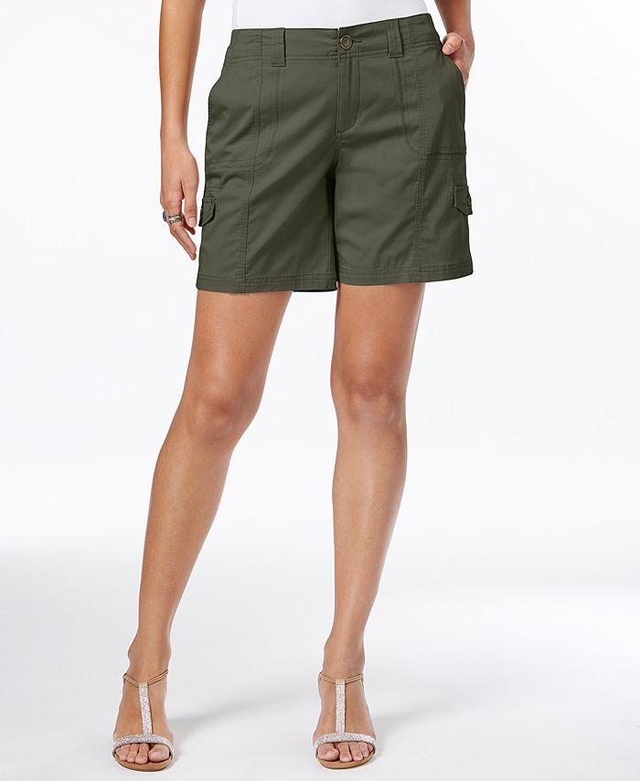 Style & Co - Comfort-Waist Cargo Shorts