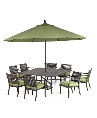 outdoor 9 set 64 quot square dining table and 8