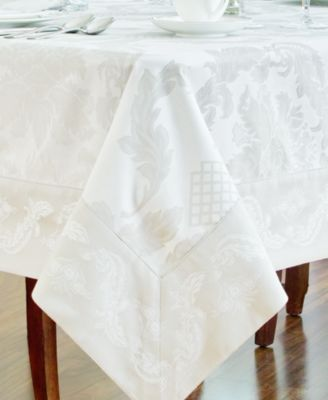"Waterford Table Linens, Damascus 70"" x 104"" Tablecloth"