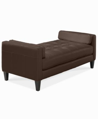 Almafi leather daybed furniture macy 39 s for Alessia leather chaise