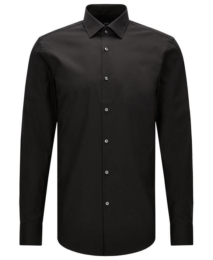 Hugo Boss - Men's Slim-Fit Easy-Iron Cotton Dress Shirt