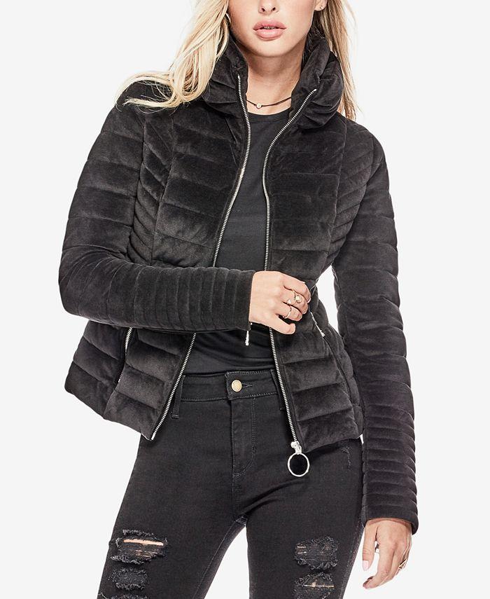 GUESS - Teoma Velvet Puffer Jacket