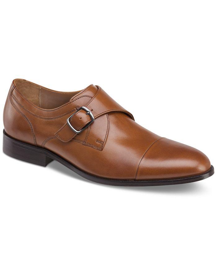 Johnston & Murphy - Men's Hernden Single Monk Cap-Toe Loafers