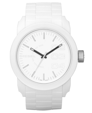 Diesel Watch, White Silicone Strap 44mm DZ1436 $ 100.00