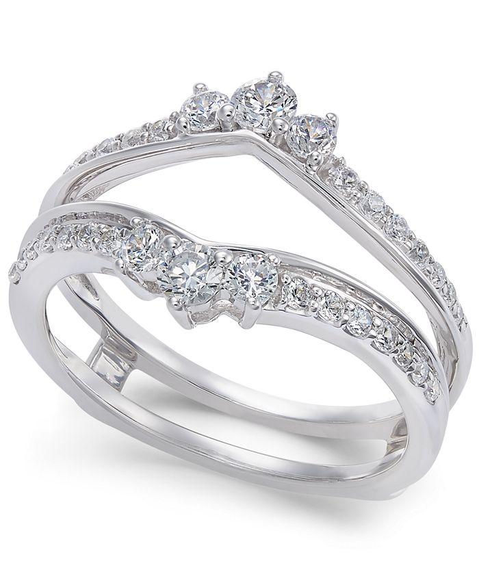 Macy's - Diamond Enhancer Ring Guard (5/8 ct. t.w.) in 14k White Gold