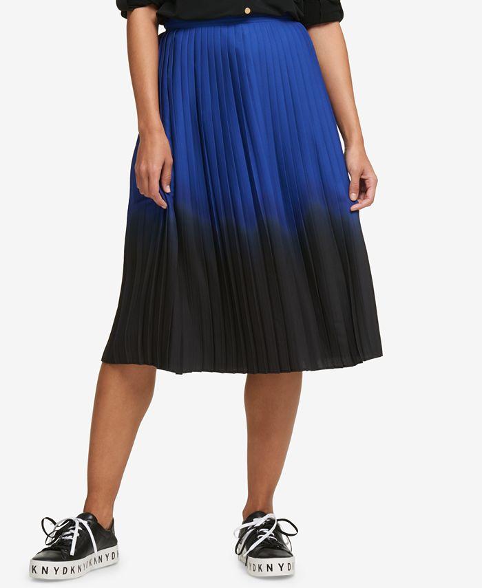 DKNY - Pleated Ombré Midi Skirt