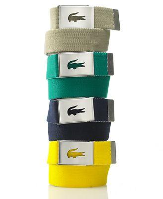 Lacoste Belt Woven Logo Plaque Belt Web ID 540443