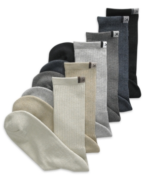 Calvin Klein Socks, 6 Pack Cushioned Sole Solid