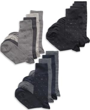 Calvin Klein Socks, 4 Pack Patterned Dress Socks