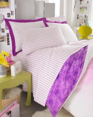 Teen Vogue Bedding, Violet 200 Thread Count Twin Sheet Set Bedding