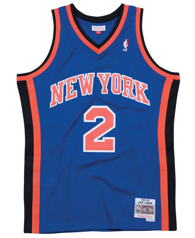 Mitchell & Ness Men's Larry Johnson New York Knicks Hardwood Classic Swingman Jersey & Reviews - Sports Fan Shop By Lids - Men - Macy's
