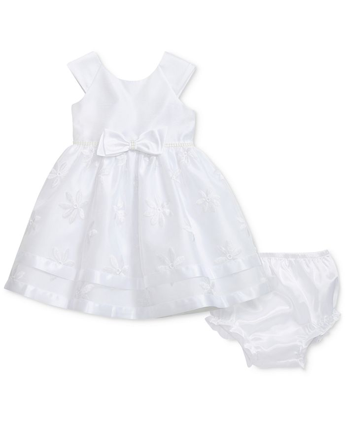 Sweet Heart Rose - Woven Party Dress, Baby Girls