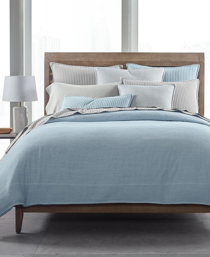 Hotel Collection - 525 Thread Count Yarn Dye King Duvet Cover