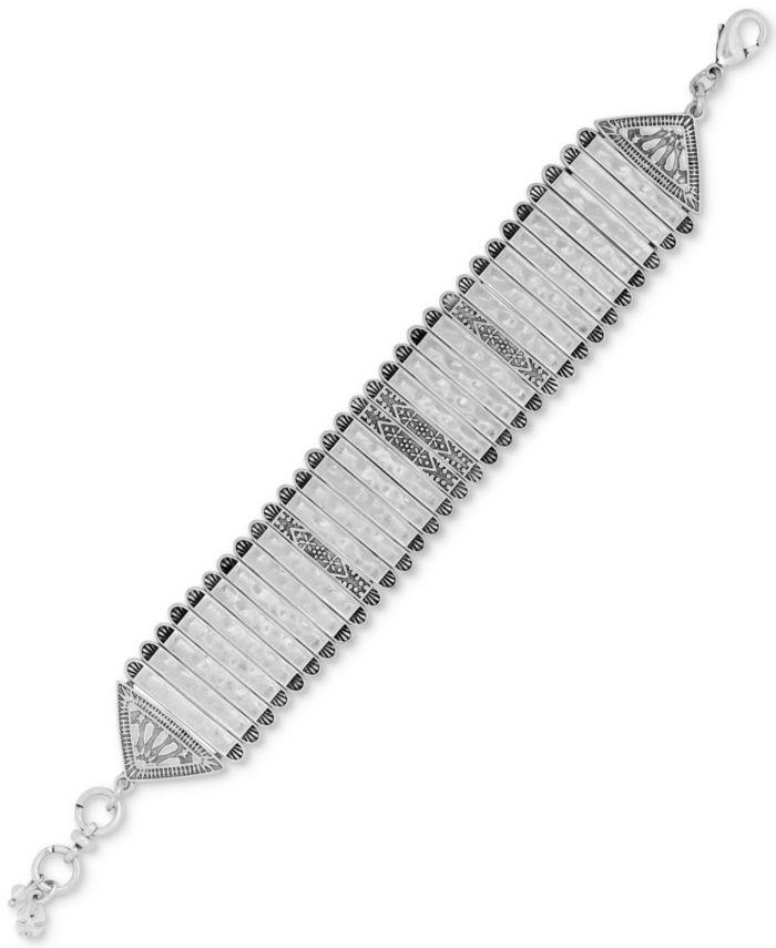 Lucky Brand Silver-Tone Link Bracelet & Reviews - Bracelets - Jewelry & Watches - Macy's