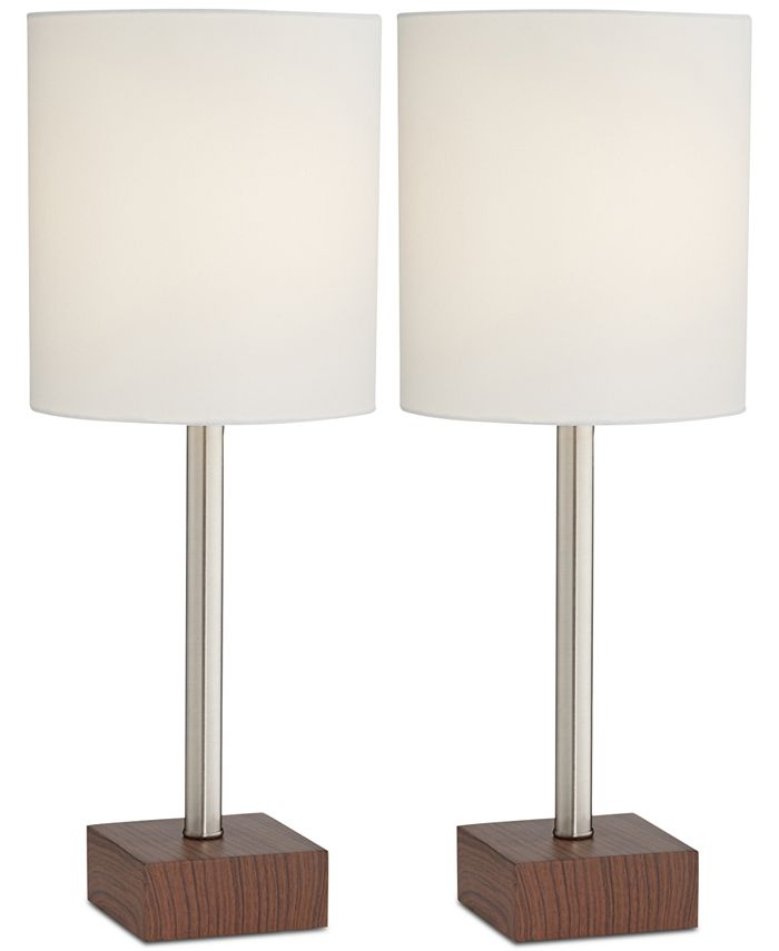 Kathy Ireland - Set of 2 Contempo Table Lamps