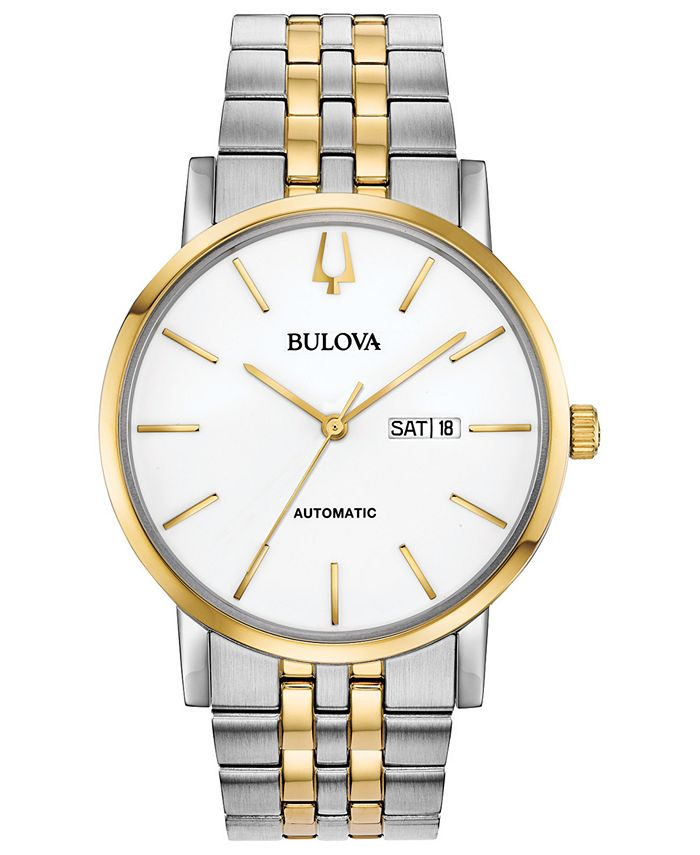 Bulova - Men's Automatic American Clipper Two-Tone Stainless Steel Bracelet Watch 42mm