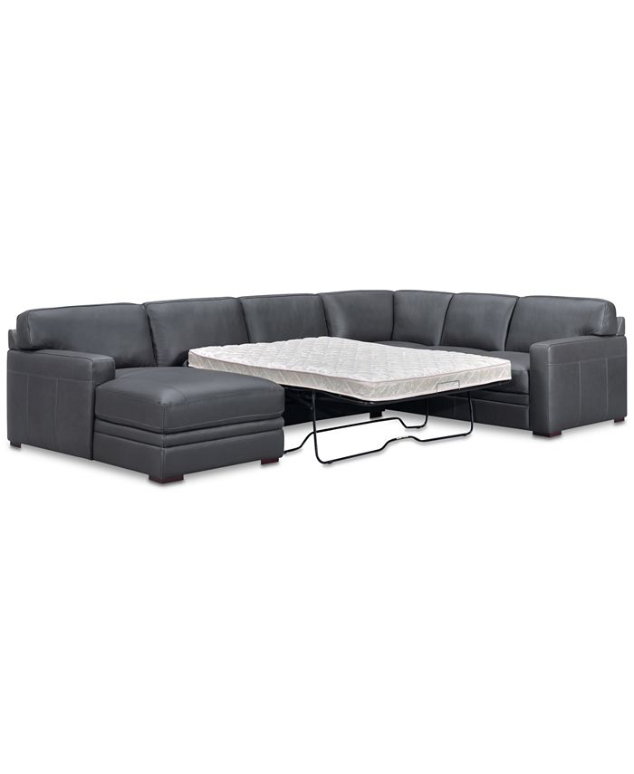 Furniture - Avenell 3-Pc. Sectional with Sofa Return, Sleeper Loveseat & Chaise, Only at Macy's