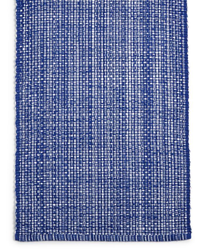 "Martha Stewart Collection - 72"" Blue Woven Cotton Table Runner"
