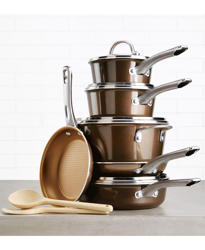 Ayesha Curry - Home Collection 12-Pc. Porcelain Enamel Non-Stick Cookware Set