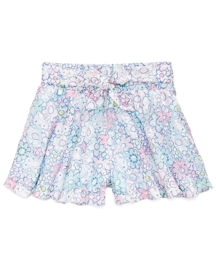 Hello Kitty - Printed Lace Shorts, Little Girls
