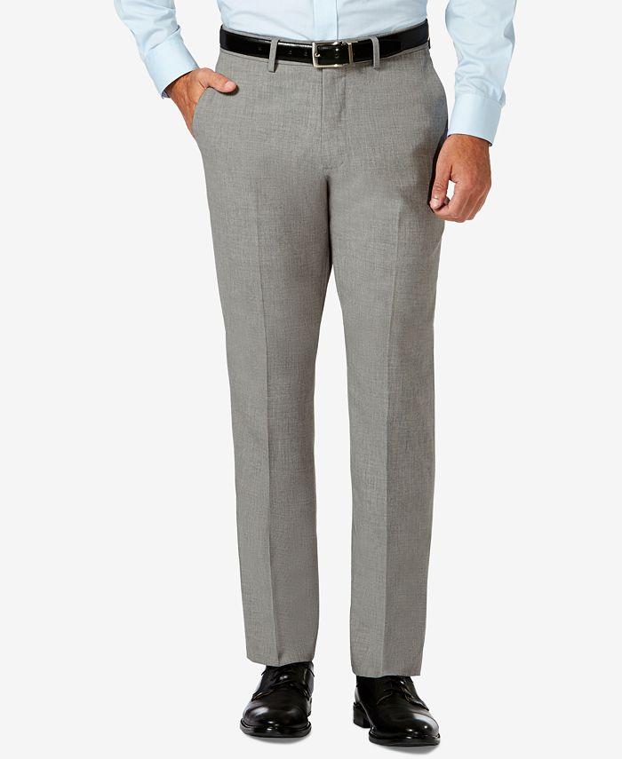 Haggar - J.M.  Slim Fit 4-Way Stretch Flat Front Dress Pants