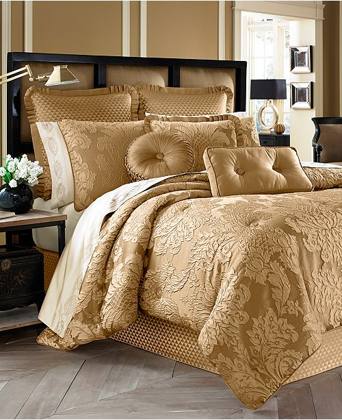 J Queen New York Concord Gold Comforter Sets & Reviews