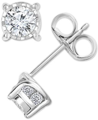 Diamond Stud Earrings (1/2 ct. t.w.) in 14k White, Yellow or Rose Gold