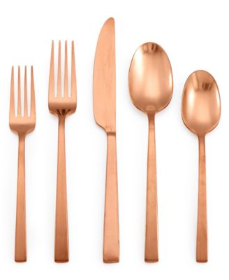 Rumble Copper 20-Pc. Flatware Set, Created for Macy's, Service for 4