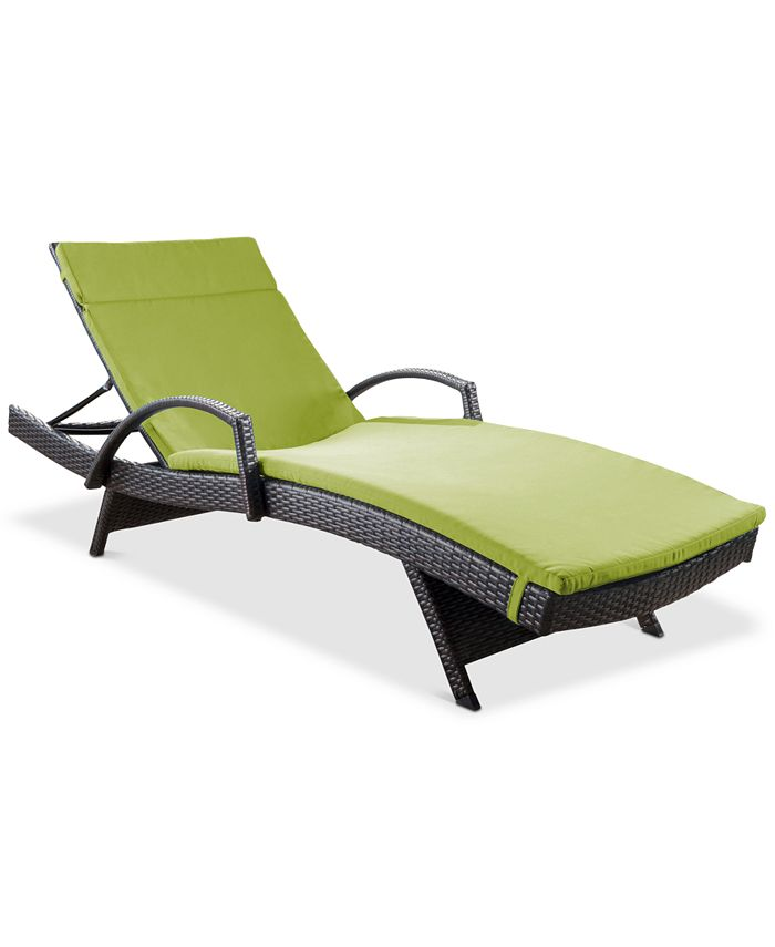 Noble House - Lunada Bay Outdoor Chaise Lounge, Quick Ship