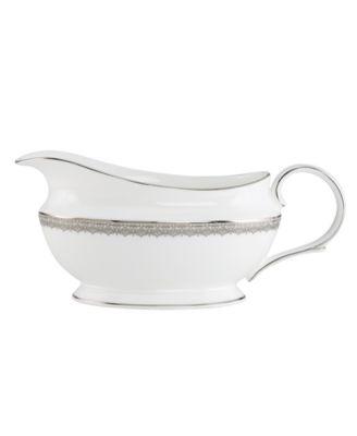 Lenox Dinnerware, Lace Couture Gravy Boat