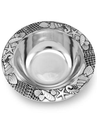 wilton armetale serveware seashore medium serving bowl