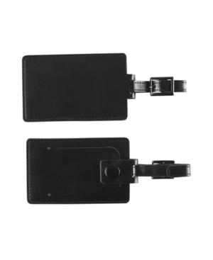 Concierge Luggage Tags, Black Set of 2