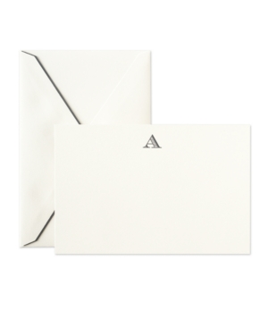 Crane Stationery, Hand Engraved Initial Correspondence Cards