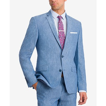Bar III Men's Slim-Fit Linen Suit Jackets