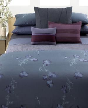 Calvin Klein Home Bedding, Smoke Flower Queen Fitted Sheet Bedding