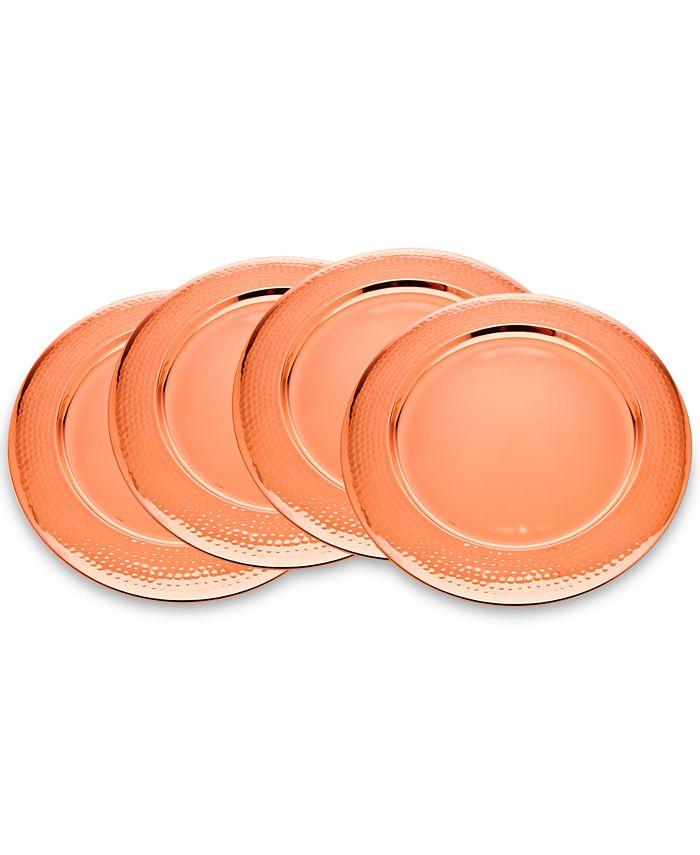 Godinger - 4-Pc. Hammered Copper Charger Set