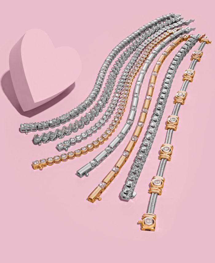 Macy's Diamond Tennis Bracelet (10 ct. t.w.) in 14k White Gold & Reviews - Bracelets - Jewelry & Watches - Macy's
