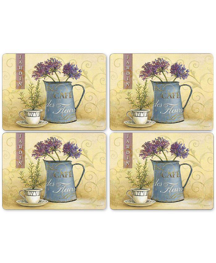 Pimpernel - Café de Fleurs Placemats, Set of 4