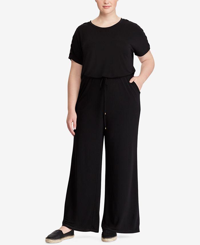 Lauren Ralph Lauren - Plus Size Stretch Jersey Jumpsuit