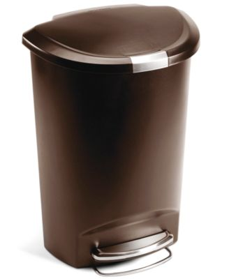 simplehuman Trash Can, 50L Plastic Step Can