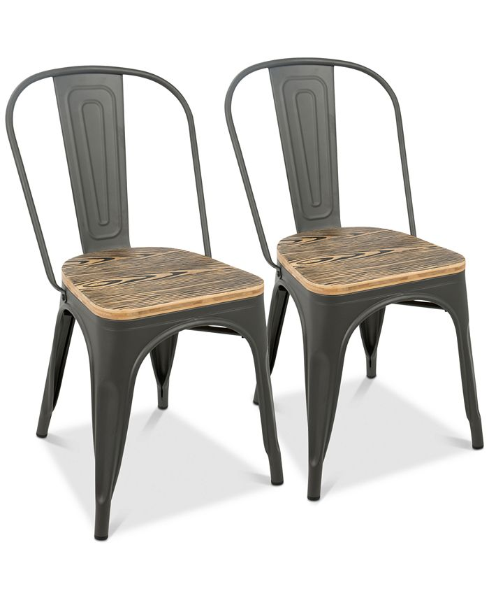 Lumisource - Oregon Dining Chair (Set of 2), Quick Ship